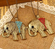 Necklace Hot Chic Pendant Elephant Retro Colorful Crystal Fashion Sweater Chain