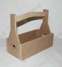 Crate with carry handle with plain sides MDF