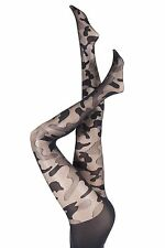 Ladies 1 Pair Pretty Polly House of Holland Camouflage Tights