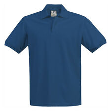 Boys Girls Royal Blue Pique Polo Shirt School Uniform Short Sleeve Sizes 4 to 18