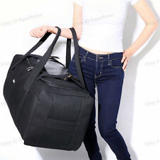 80L Large Thick Canvas Hand Luggage Travel Backpack Duffle Bag Storage Organizer