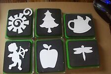 USED GREEN SIZZIX DIES LOADS OF  DESIGNS IN ORIGINAL PACKAGING.  YOU CHOOSE