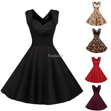 Women V-Neck High Waist Sleeveless Casual Party Solid Midi Pleated Dress