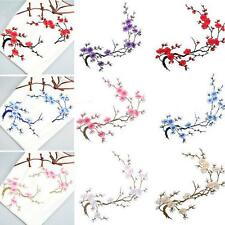 Embroidered Plum Blossom Flower Patch Applique Motif Craft Beautiful Iron on