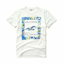 New Hollister By Abercrombie Mens Graphic T Shirt White
