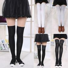 Women New Over Knee Thigh High Cotton Stocking Long Socks Boot Hosiery Socks