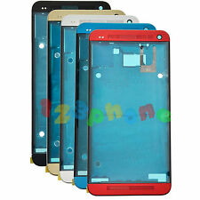 Front Top + Bottom Bezel + Middle Mid Frame Chassis Housing For HTC One M7 801e