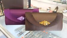 WOMENS SATIN RHINESTONES EVENING CLUTCH BAG WEDDING BRIDAL PROM  PURSE