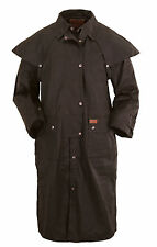 Outback Trading Co. Low Rider Duster Mens Coat Brown 100% Cotton Oilskin