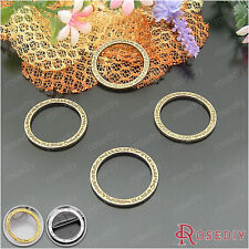 30PCS 24.5MM Zinc Alloy Circle Pendants Jewelry Findings Accessories 21871