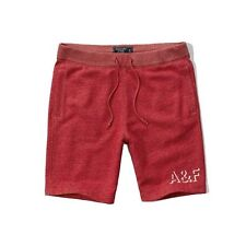 Nwt Abercrombie By Hollister Mens Fleece Athletic Shorts Red