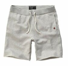 Nwt Abercrombie By Hollister Mens Fleece Athletic Shorts Gray