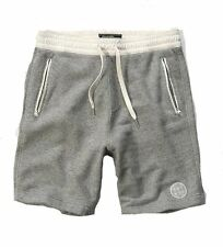 Nwt Abercrombie By Hollister Mens Fleece Athletic Shorts Grey