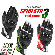 2016  NEW SPIDI STR 3 VENT COUPE MOTORCYCLE GLOVES REAL LEATHER RACING MOTORBIKE