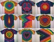 New Tie Dye Youth M Alstyle 100% Cotton Short Sleeve T-shirt Multi-color
