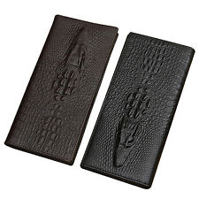 Men's New Fashion Soft Leather Bifold Credit Card Holder Long Wallet Coin Purse