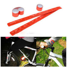 Hot Outdoor Night Safety Riding Bike Reflective Trouser Pants Clips Wrist Strp