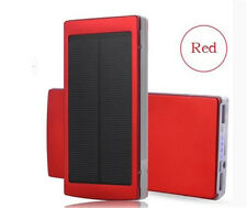 Hot Top 600000mAh Portable Solar Power Bank Dual USB LED Backup Charger Battery