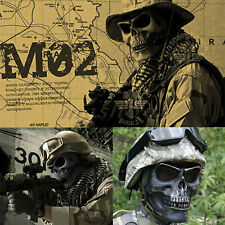 Military Tactical Skull Skeleton Full Face Mask  Hunting Costume Party Hallowee
