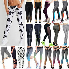 Womens Ladies Yoga Fitness Running Sports Pants Slim Leggings Stretch Trousers