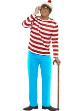 Adult Where's Wally Fancy Dress Adult mens Where's Wally Fancy Dress  Costume