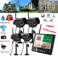 New Digital Wireless DVR CCTV Camera Home Security System+LCD Monitor 7' 9 '
