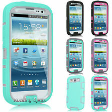 Slim Armor Defender ShockProof Hard Case Cover For SAMSUNG GALAXY S III S3 i9300