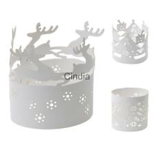 10 White Christmas Candle Decoration Paper Tea Light Holder Holiday Decoration