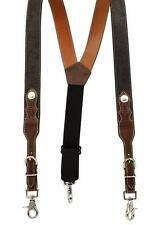 Nocona Western Mens Suspenders Galluse Billets Round Concho Black Brown N8513667