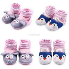 0-12M Newborn Baby Toddler Girls Cartton Anti-Slip Socks Shoes Slipper Prewalker