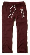 New Hollister By Abercrombie Mens Sweatpants Trousers Size XS Burgundy