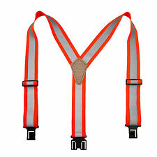 New Perry Suspenders Elastic Hook End Reflective Suspenders