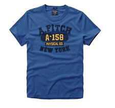 New Abercrombie & Fitch By Hollister Men's Muscle Fit Tee T Shirt Blue