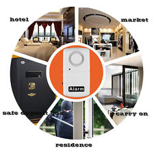 New Wireless Window Door Security Vibration Detector Alarm 110db White I5