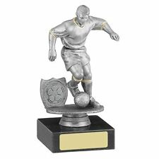 Football Trophies - Silver Football Figure Trophy Award Prize - FREE ENGRAVING