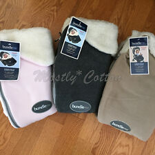 NiP NWT infant toddler JJ Cole premium stroller carseat faux shearling buntings