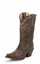 Tony Lama Womens Chocolate Rancho Leather 11in Western Boots
