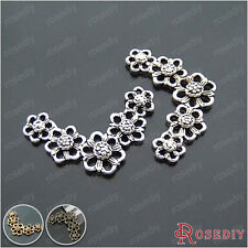 20PCS 33*20MM Alloy Flowers Connector Charms Jewelry Findings Accessories 14600