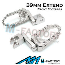 For Yamaha YZF 750 R/SP 93-98 99 Silver Touring Front Foot Pegs 39mm Extension
