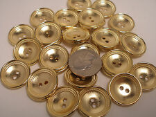 New lots of Gold Metal Buttons sizes 5/8 ,11/16, 7/8 Blazer Made in Italy  #G23