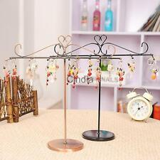 Vintage T shape Bracelet Necklace Jewelry Display Rack Iron Stand Shop Holder