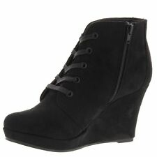 Rampage SERENITY Black Suede Ankle Bootie, 7.5M