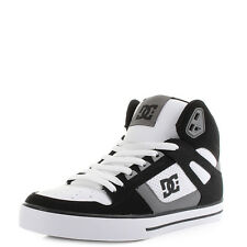 Mens DC Spartan High WC Black Grey White High Top Skate Shoes Trainers Shu Size