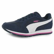 Puma ST Runner Nylon Trainers Womens Navy/White Casual Fashion Sneakers Shoes