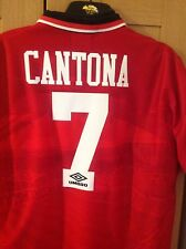 Cantona Nameset 1992 Player Size For Shirt Manchester United
