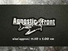 Agnostic Front Sew On Patch Iron Embroidered Rock Band Hardcore Punk Metal Logo