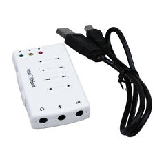 New USB 2.0 External Virtual 7.1 Channel CH 3D Stereo Audio Sound Card New I5@