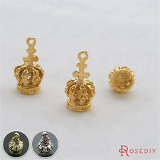 10PCS 17*8MM Zinc Alloy Crown Charms Pendants Jewelry Findings Accessories 15101