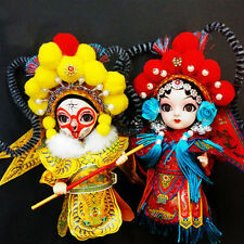 Q version Peking opera silk figurine Beijing features collectibles souvenir gift