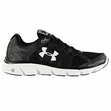 Under Armour Micro Assert 6 Running Shoes Mens Black/White Trainers Sneakers
